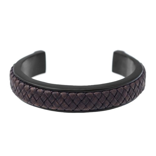 Simple C-woven leather bracelet Leather C-Type Bracelet