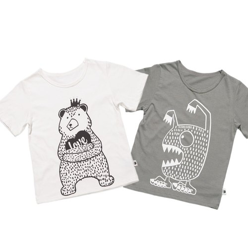 ★ ★ combination of joy price of organic cotton T_ + Monsters love you bear