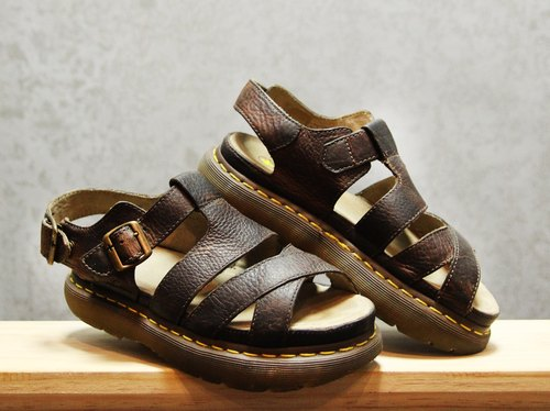 Tsubasa.Y ancient house dark brown 003 Martin sandals, Dr.Martens