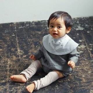 MARLMARL Baby Bib Collet collar series (love surround powder)
