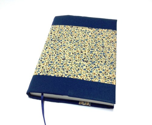 Floral Fabric book cover with bookmark