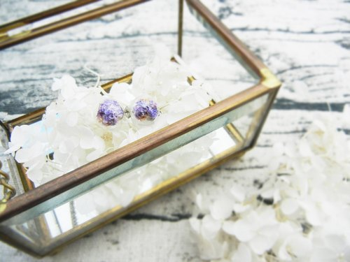 *coucoubird*sky star dream purple glass earrings / anti-allergic ear acupuncture