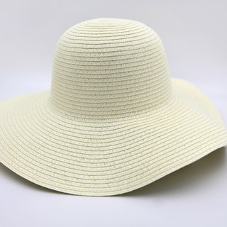 [Paper cloth home] European wave hat (white) paper line weaving