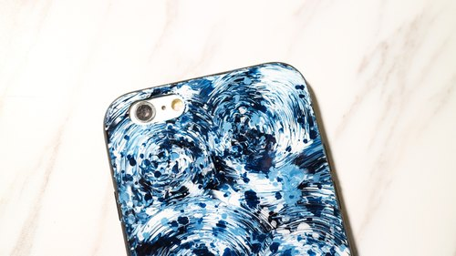 Whirlpool whirlpool ll ll MidnightBlue series of hand-painted oil painting style Phone Case