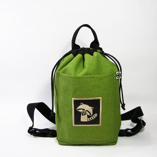 Square beam rear backpack (thick canvas) __made as zuo zuo hand made backpack