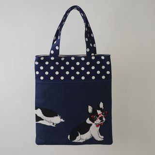 [Katie. C Katie. heart. Life] feel relaxed mention small book bag / lunch bag / handle bag / bag Walking / parent-child bag = French Bulldog