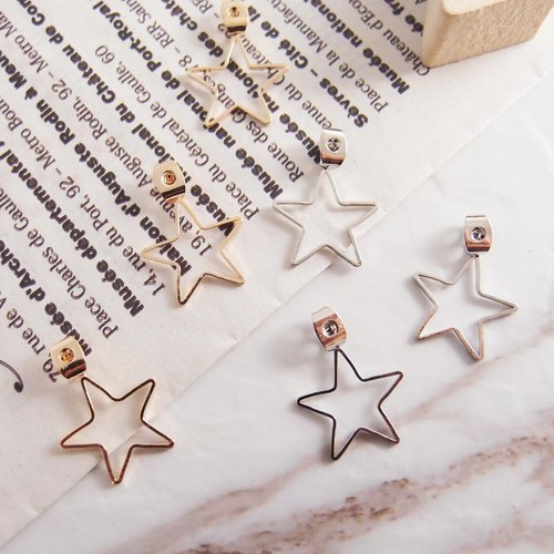 【Add area】 star ear plug ★ needle earrings special ★