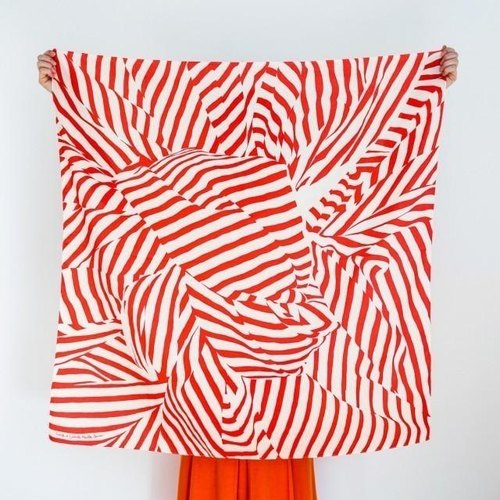 Stripe Furoshiki Red