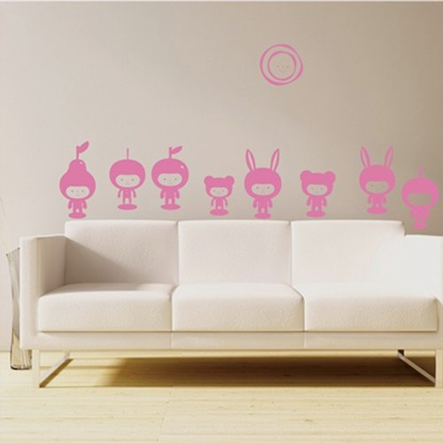 Smart Design Creative Apple ◆ Seamless wall stickers doll 8 color options