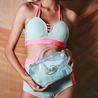 Love Pocket set - MintCoral / swimwear / S