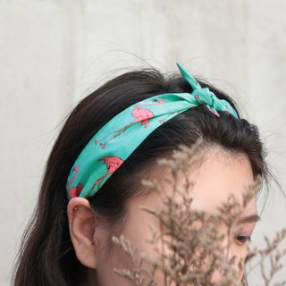 Crane grassland United States cotton cloth detail section strap manual elastic strap hair band