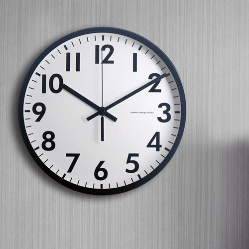 Basic - Classic Light Black Wall Clock (Metal)