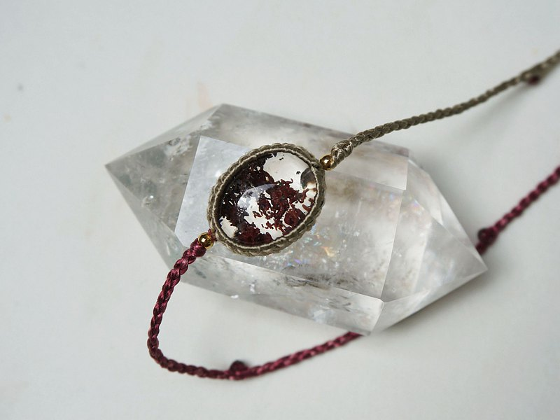 MC | Silk. Red Ghost Crystal Necklace Original Design