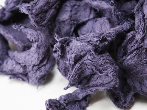 Paper Materials - purple pulp (dry)