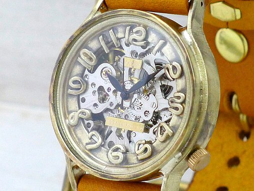 Handmade watch FandCraftWatch hand-rolled BrassJUMBO BHW078 SV / BR