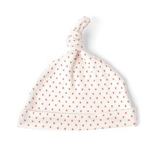 Red Kisses Knot Hat  100% Organic Cotton for baby