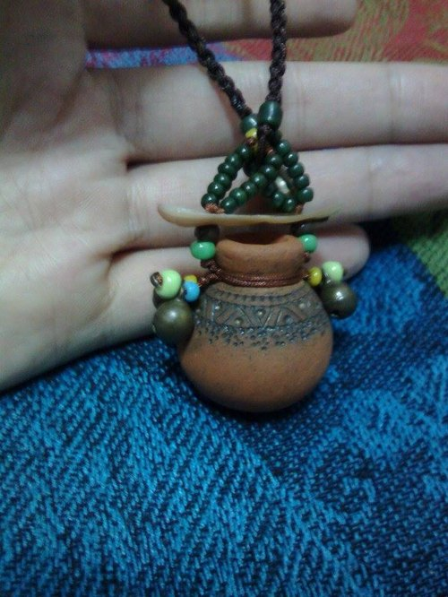 〖Long Valley Tiberias brick-colored pearl jewelry small clay pot〗 Multifunction (Tiberias Thao Long Valley Series)