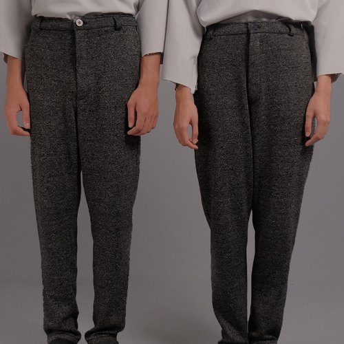 UNISEX : THE WOOL PANTS (DARK GREY)