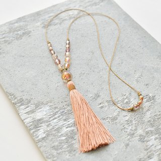 "ネックレス/ Tassel Necklace ""sunset"""
