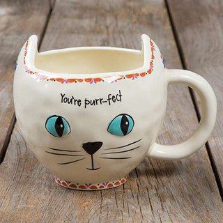 Styling mug - white cat 16oz ∣ MUG212