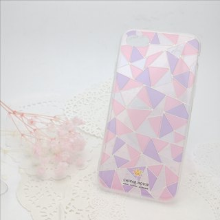 Mosaic phone case - pink color