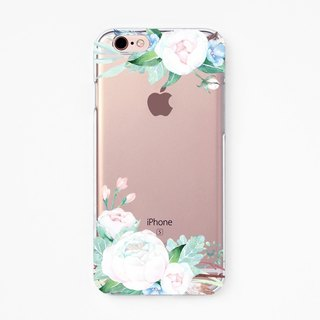 iPhone Rubber Case - Ranunculus for iPhones  - Clear Flexible Rubber TPU case