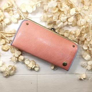 CU 087 BP leather purse Gamaguchi gloss goat leather wallet Leather wallet / spicy / gloss / goat leather / long wallet / dermo packing / packing / Mitsuzawa / goat leather /