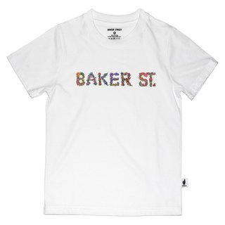 British Fashion Brand [Baker Street] Floral Letters Printed T-shirt for Kids