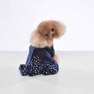Fake two-piece stitching pet dress