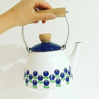 Nordic cute retro Floryd blueberry enamel Kun