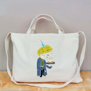 Cultural & Creative birthday celebration wind horizontal canvas bag
