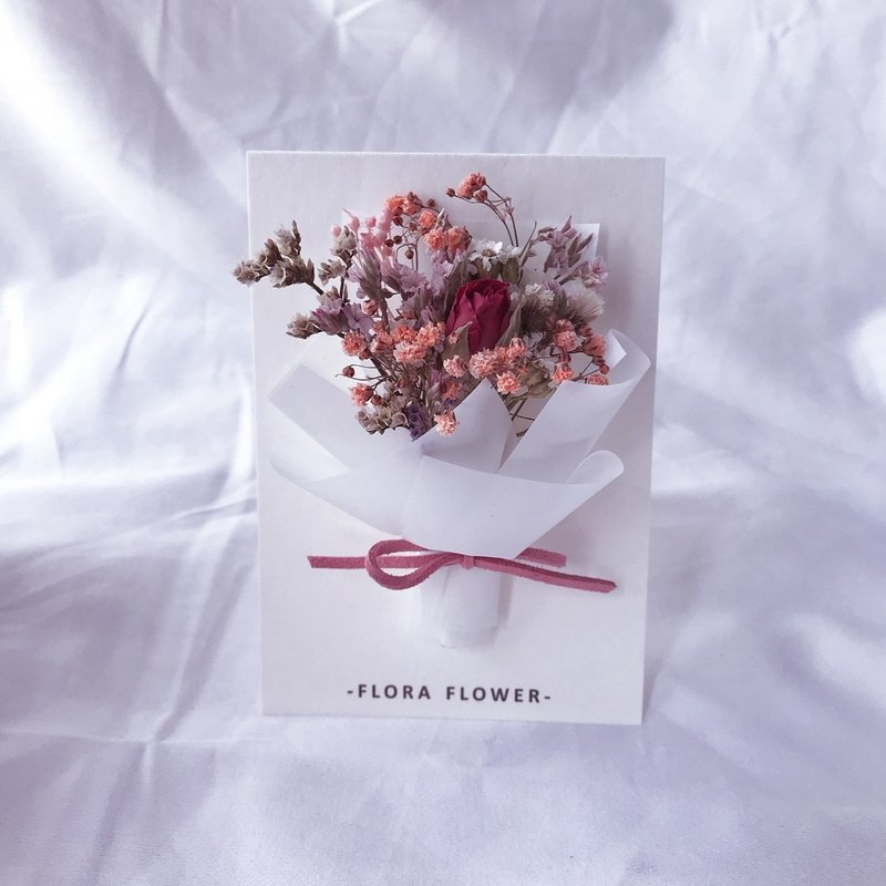 Dry flower card - rose
