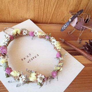 [Dried flowers] Spring small garlands Spring Message Emotional cards can be customized card text gift birthday Tanabata Valentine's Day