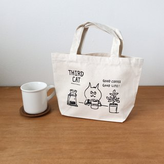 Third cat tote [GOOD COFFEE]