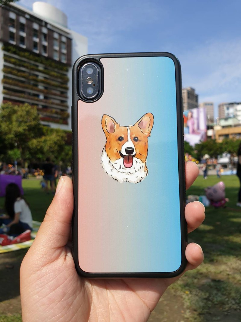 Pet Q version [Corgi mobile phone case-spot version] can also draw your hair baby G02 Corgi