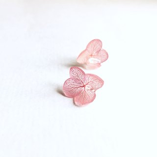 Stereo not withered flower flower clip earrings