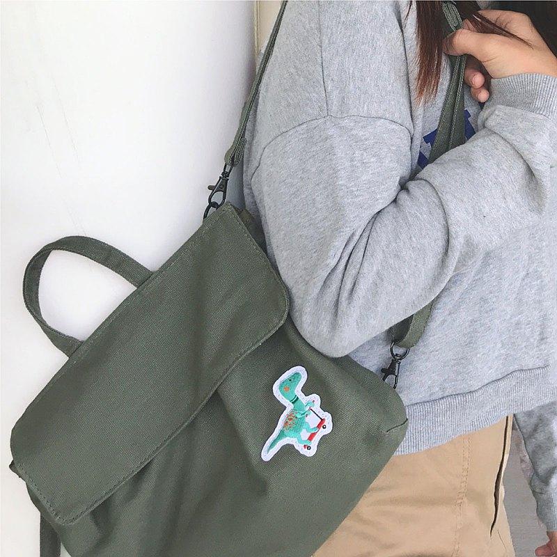小帆三用後背包/帆布包 - 軍綠