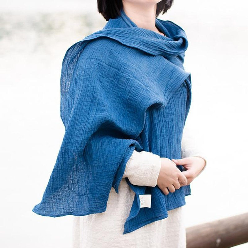 Classic cotton plant dyed scarf - dawn