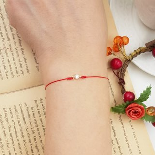 Sterling silver gold plated catch happiness ultra small double ring gold claw diamond red line red rope love lucky marriage