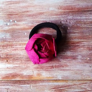 Dual-use Skin Bracelet Hair ring Pink Flower 苞款 Leather Customized Kai Manual Leather