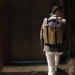 Waxed Canvas and Denim Travel Backpack Daypack