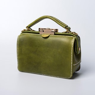 [Cutline] Dulles Handmade Gold Bag Lady Doctor Bag Leather Messenger Bag Portable Small Square Bag Mini