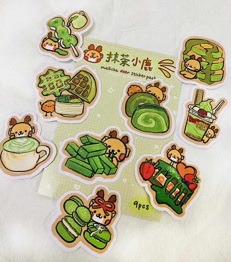 Fawn matcha series stickers