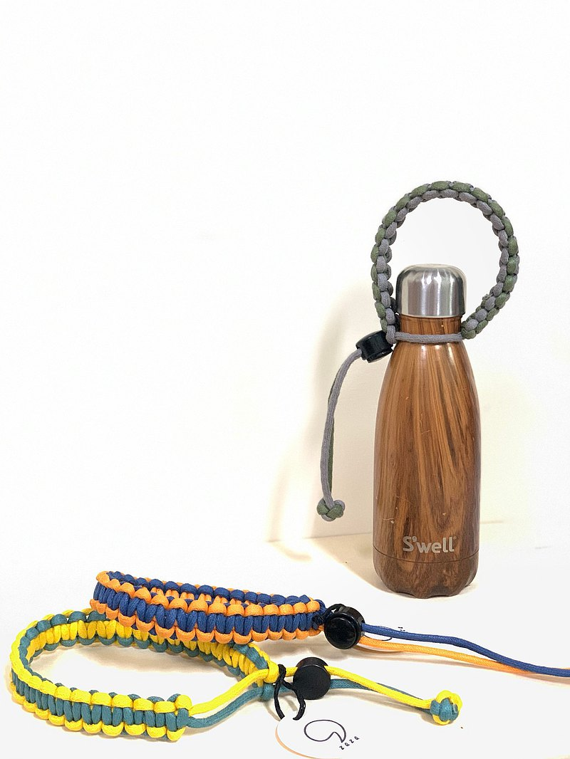 Hand-held braided belt, beverage handle, environmental protection belt, kettle with braided belt