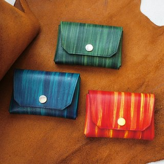Large-capacity hand-dyed rivet business card compartment (double-color dye) - a total of 3 colors