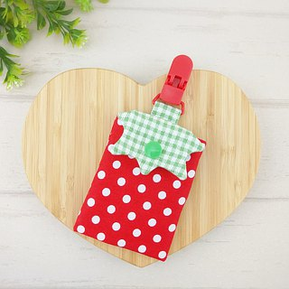 Strawberry modeling swim card bag / document bag / large size safe bag / small bag (you can increase the price of 40 embroidery) (also can take the entrance card, identification card)