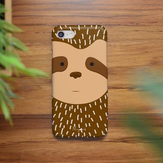 iphone case a brown sloth for iphone5s,6s,6s plus, 7,7+, 8, 8+,iphone x