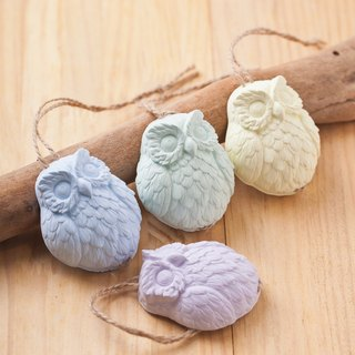 ★ sample clear ★ fragrance happy ★ wisdom owl / can hang - enamel samples - SoaPenny -