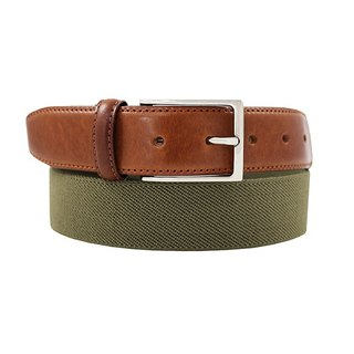 LAPELI │ Belgian elastic fabric belt - plain gray green