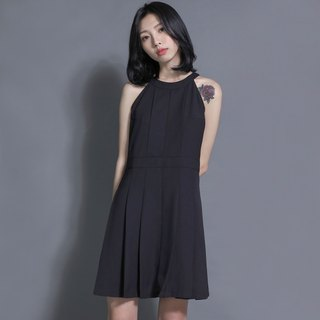 Planet Planet Box Folding Shoulder Dress_7SF019_Black